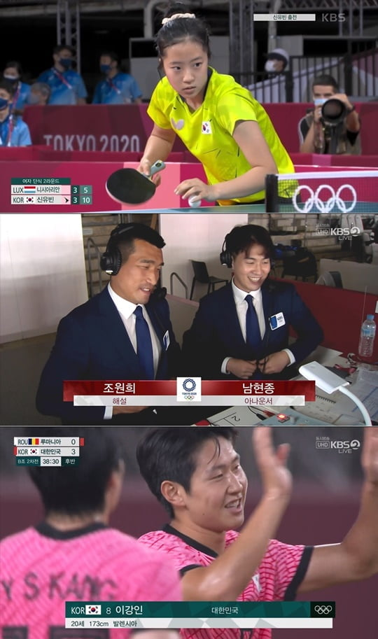 KBS '도쿄올림픽' 탁구 신동 신유빈, 경기 시청률 15.1%로 전체 1위