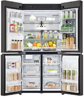 LG 디오스 얼음정수기냉장고 오브제컬렉션, '노크온 기능'으로 냉장고 안 열어도 내부 확인