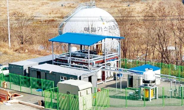 대구시가 매립가스를 수소로 전환하는 연구를 진행할 실증연구 플랜트.  대구시 제공