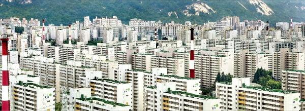 7월 첫째주 서울에서 가장 높은 매매가격 상승률(0.29%)을 기록한 노원구 일대 아파트 단지.  /한경DB