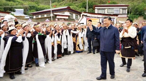 [포토] 시진핑, 주석 취임 9년 만에 첫 티베트 방문
