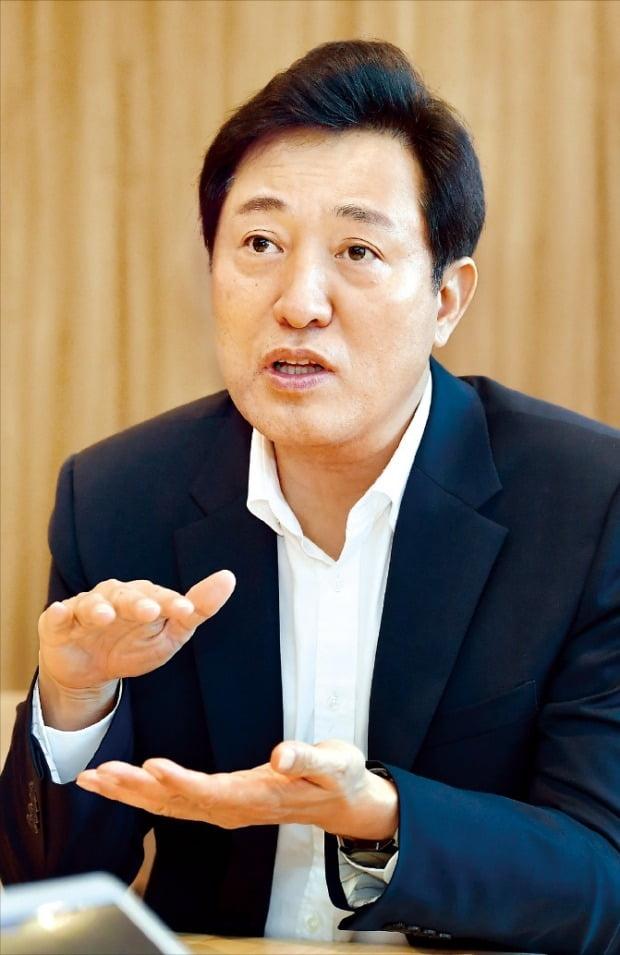 """오세훈 """"상암 모빌리티·여의도 금융·홍릉 바이오…기업 혁신 메카 만들 것"""""""