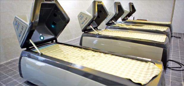 웰니스스파임상지원센터에 구축된 스파체험 장비.  충남TP 제공