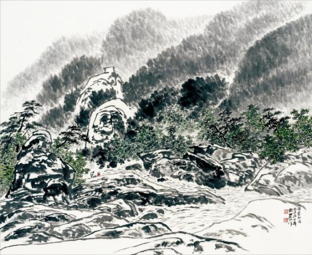 하철경의 '무릉계곡'.