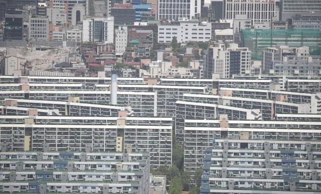 서울 강남 대모산에서 바라본 대치동 은마아파트. /한경DB