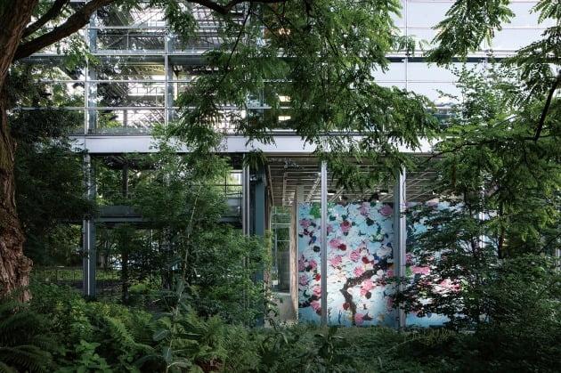 View of the Exhibition, Damien Hirst, Cherry Blossoms, Fondation Cartier Pour L'art Contemporain, Paris ©Thibaut Voisin