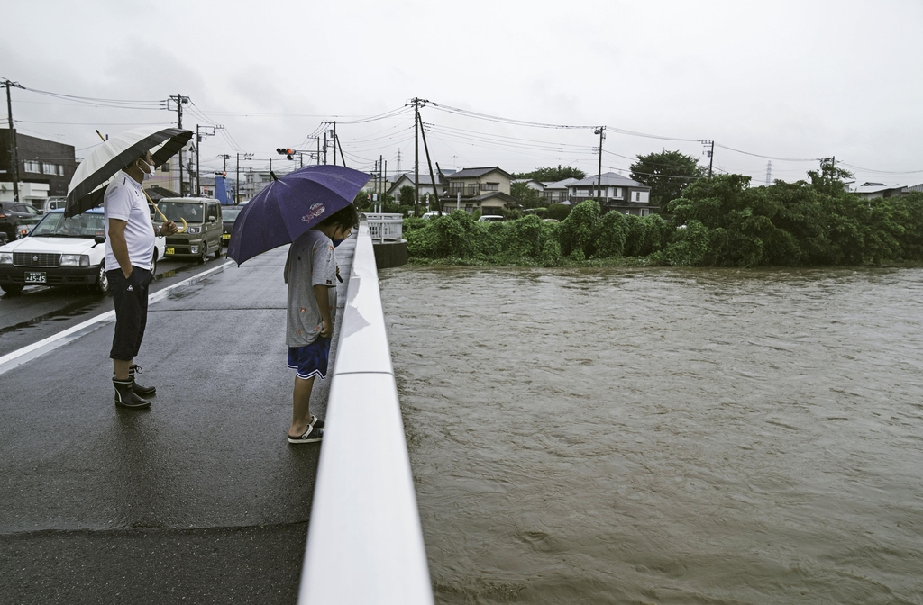 """장마 닥친 일본 시즈오카 폭우로 산사태…""""약 20명 행방불명"""""""