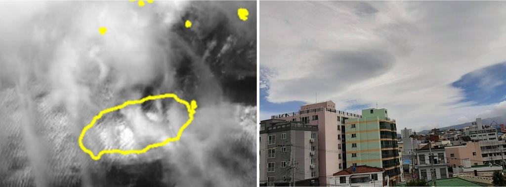 한라산 상공에 UFO가 나타났다?…렌즈구름 생성 비밀은