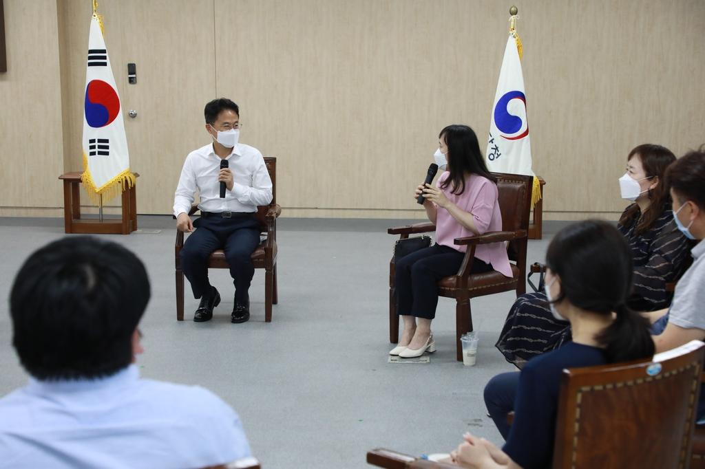 김정우 조달청장, MZ세대 직원들과 소통 간담회