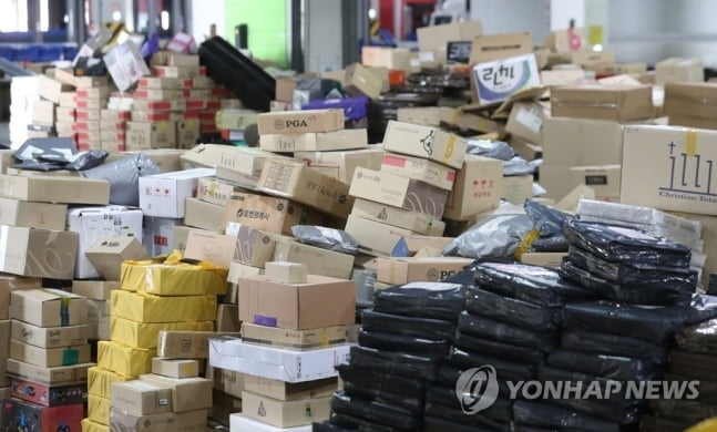 """쌓인 택배 10만개…""""성남 위례신도시 접수 중단"""""""