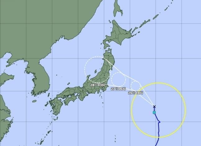 8호 태풍 `네파탁`, 내일 日수도권 상륙…강풍·폭우 전망