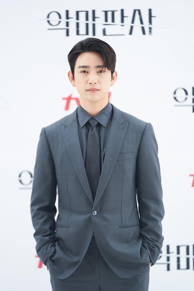 가수 겸 배우 진영이 1일 오후 온라인 생중계된 tvN 새 토일드라마 '악마판사' 제작발표회에 참석했다. /사진제공=tvN