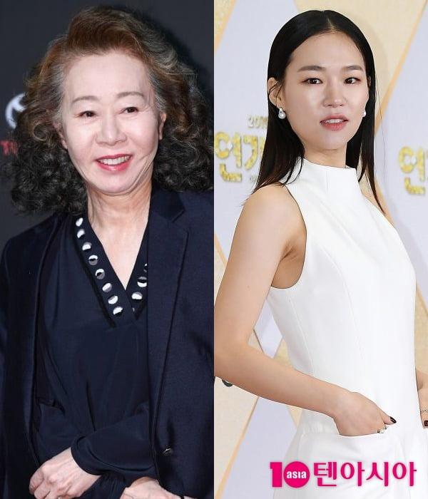 배우 윤여정(왼쪽), 한예리 / 사진=텐아시아DB