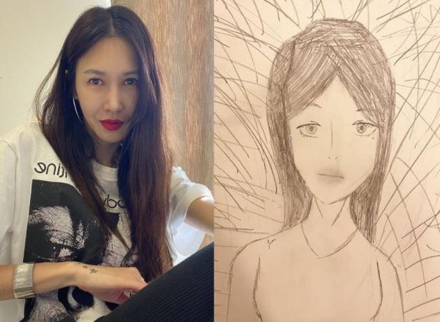 발레리나 윤혜진(왼쪽)의 그림/ 사진=인스타그램