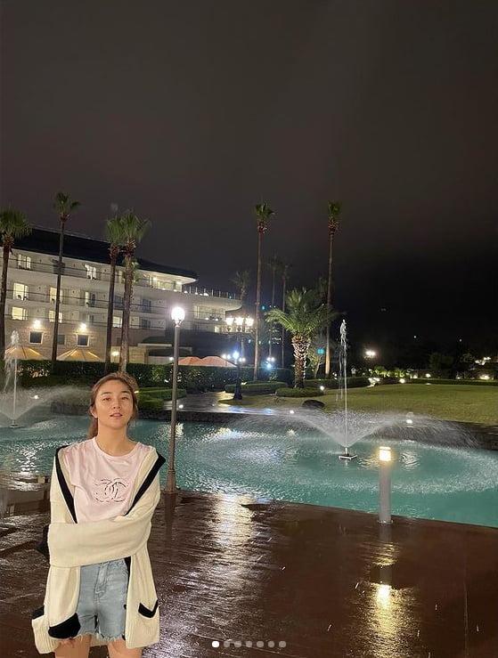 '조우종♥' 정다은, 완벽한 수영복 핏...여유로운 여름휴가[TEN★]