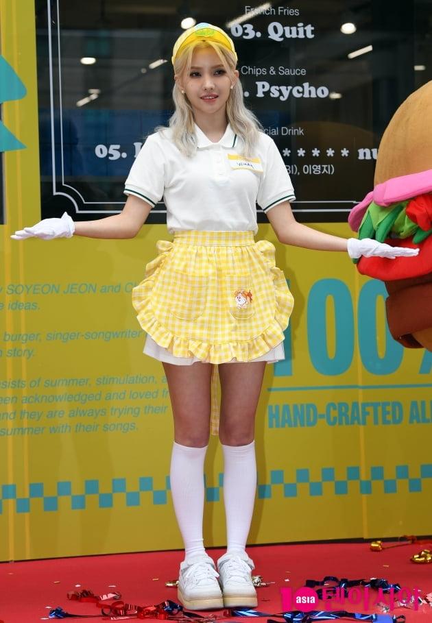 [TEN 포토] (여자)아이들 전소연 '오감 만족시킬수 있는 윈디앨범이 되겠습니다'
