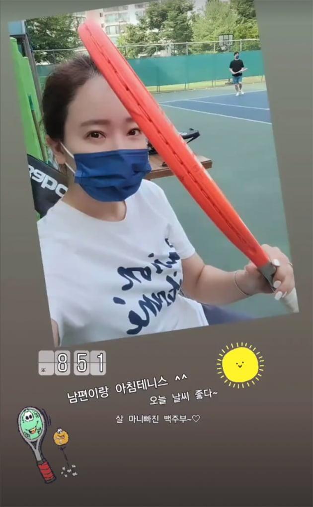 """소유진 """"♥백종원과 테니스, 살 빠진 백주부"""" 아침부터 알콩달콩 [TEN★]"""