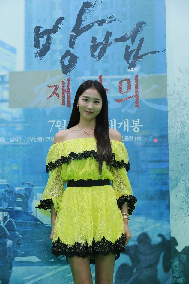 배우 오윤아가 6일 열린 영화 '방법: 재차의' 온라인 제작보고회에 참석했다. / 사진제공=CJ ENM
