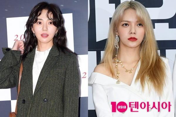 AOA 전 멤버 권민아(왼쪽), 지민. /텐아시아DB