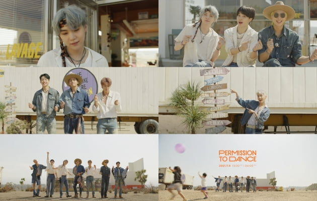 /사진 = 방탄소년단 'Permission to Dance' 뮤직비디오 티저