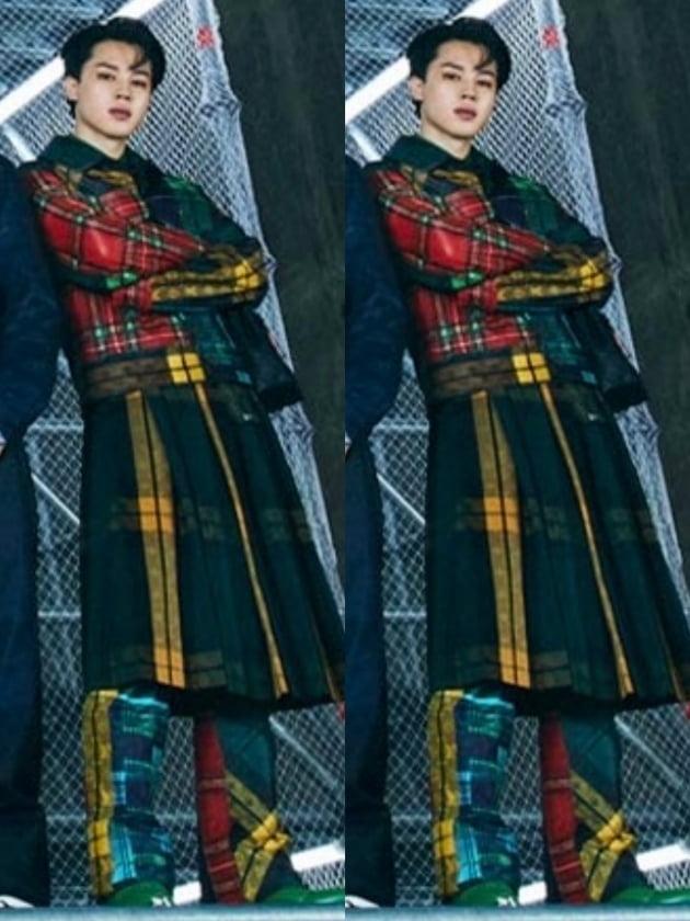 '루이비통 디자이너 픽' 방탄소년단 지민,  '버질 아블로' 아트 에디터 단독 JIMIN 사진 게시