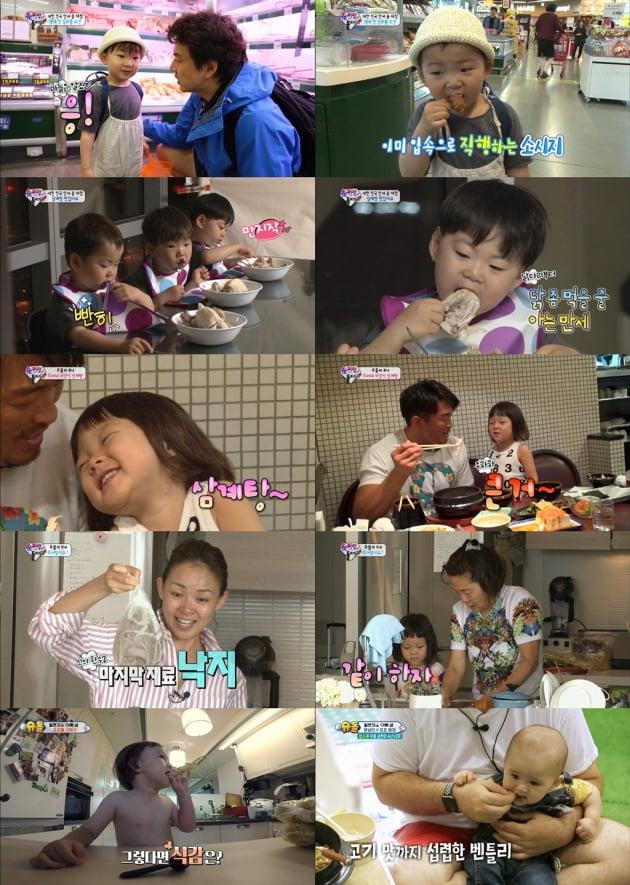 '슈퍼맨이 돌아왔다' 보양식 먹방 모음/ 사진=KBS2 제공