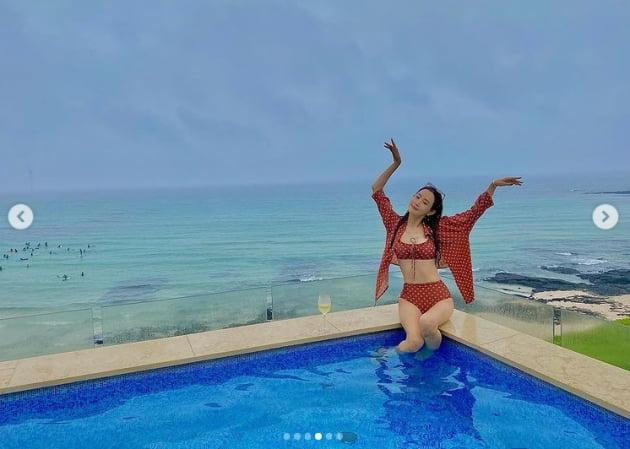 """'세븐♥' 이다해, 환상적인 수영복 자태...""""여기가 천국이로세"""" [TEN★]"""