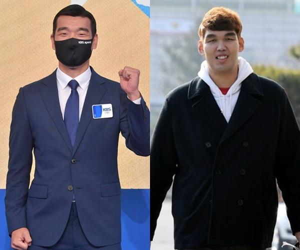 도쿄올림픽 해설위원 조원희(왼쪽), 하승진./ 사진=KBS, 텐아시아DB