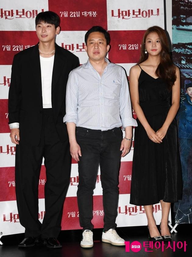 [TEN 포토] 정진운-임용재 감독-솔빈 '영화 처음이라 긴장되네'