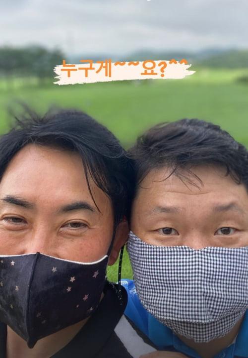 """'골프 고수' 이승철, 얼굴 맞대보니 싸이와 비슷 """"누구 게요""""[TEN★]"""