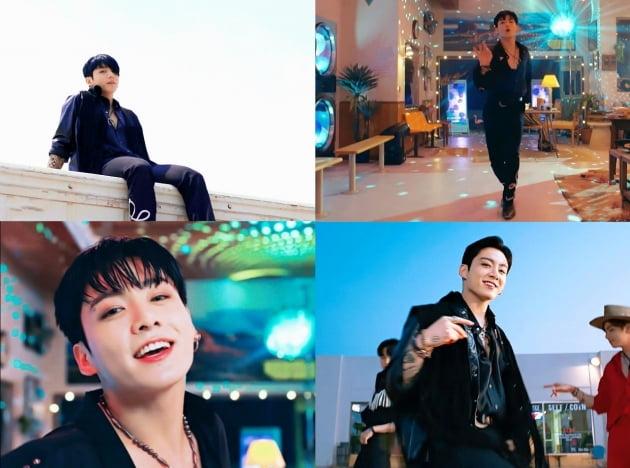 '퍼미션 투 댄스MV' 방탄소년단 정국, 유니크 '팝' 보컬...81개국 실트 장악