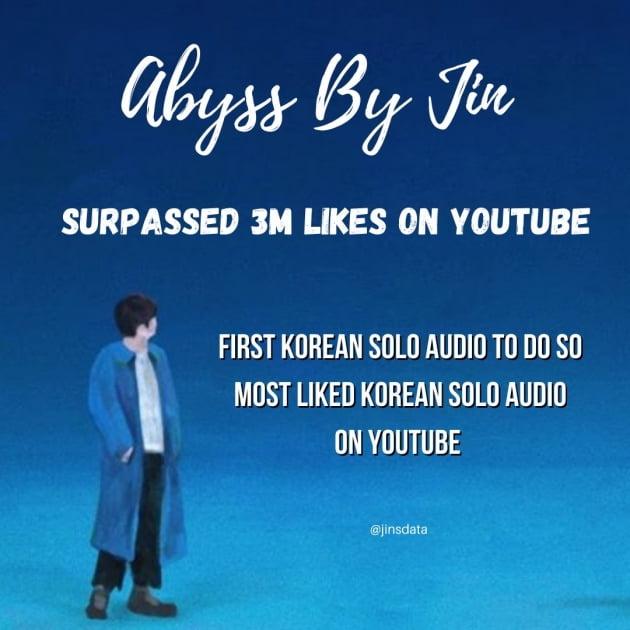 방탄소년단 진, 아미 생일에 자작곡 '어비스(Abyss)'로 축하‥월드와이드 실트 장악