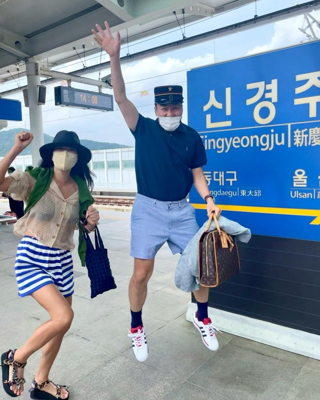 이혜영(왼쪽)과 노홍철/ 사진=인스타그램