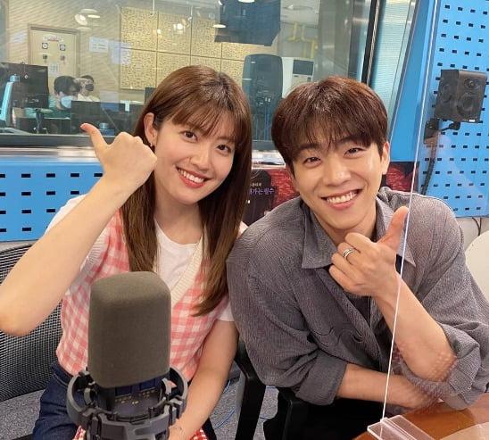 배우 남지현(왼쪽), 최종협./사진=SBS 파워FM '최화정의 파워타임' 공식 인스타그램