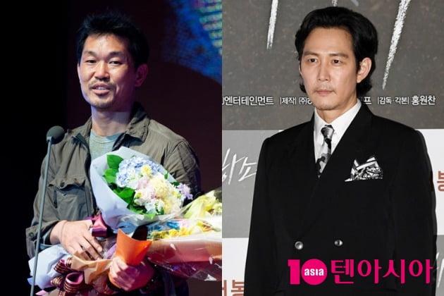 한재덕 대표(왼쪽)와 배우 이정재 / 사진=텐아시아DB