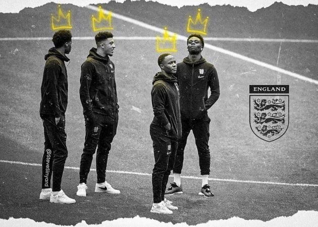 잉글랜드 흑인 선수들/ 사진=인스타그램
