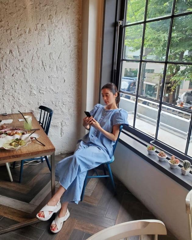 '신민철♥' 원더걸스 혜림, 키가 2m로 보이는 매직 [TEN★]