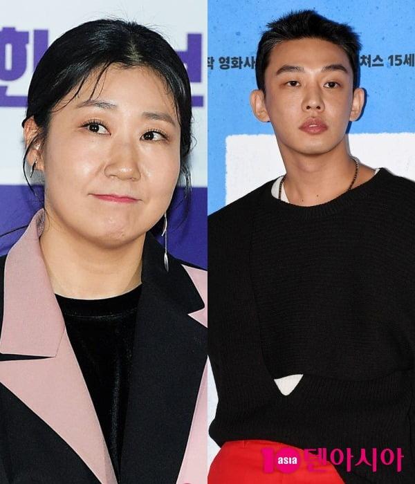 배우 라미란(왼쪽), 유아인 / 사진=텐아시아DB