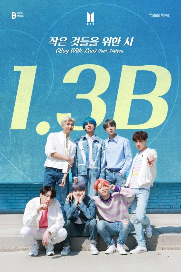 [공식] 방탄소년단 '작은 것들을 위한 시 (Boy With Luv) (Feat. Halsey)' MV, 조회수 13억뷰 돌파