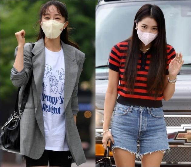 배우 엄지원(왼쪽), 오윤아./사진=조준원 기자