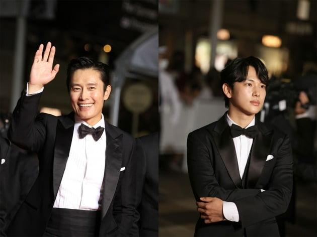 제74회 칸영화제에 참석한 배우 이병헌(왼쪽), 임시완.  / 사진제공=쇼박스