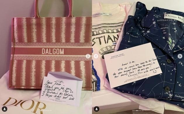 블랙핑크 지수, 선물로 받은 400만원짜리 D사 백과 파자마 '브이' [TEN★]
