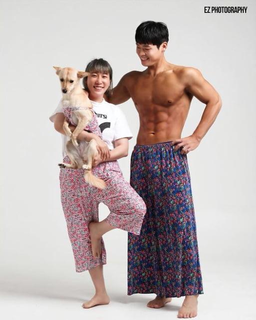 김영희(왼쪽)와 남편 윤승열 /사진 = 김영희 인스타그램