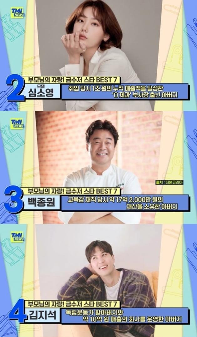 'TMI NEWS' 금수저 스타/ 사진=Mnet 캡처