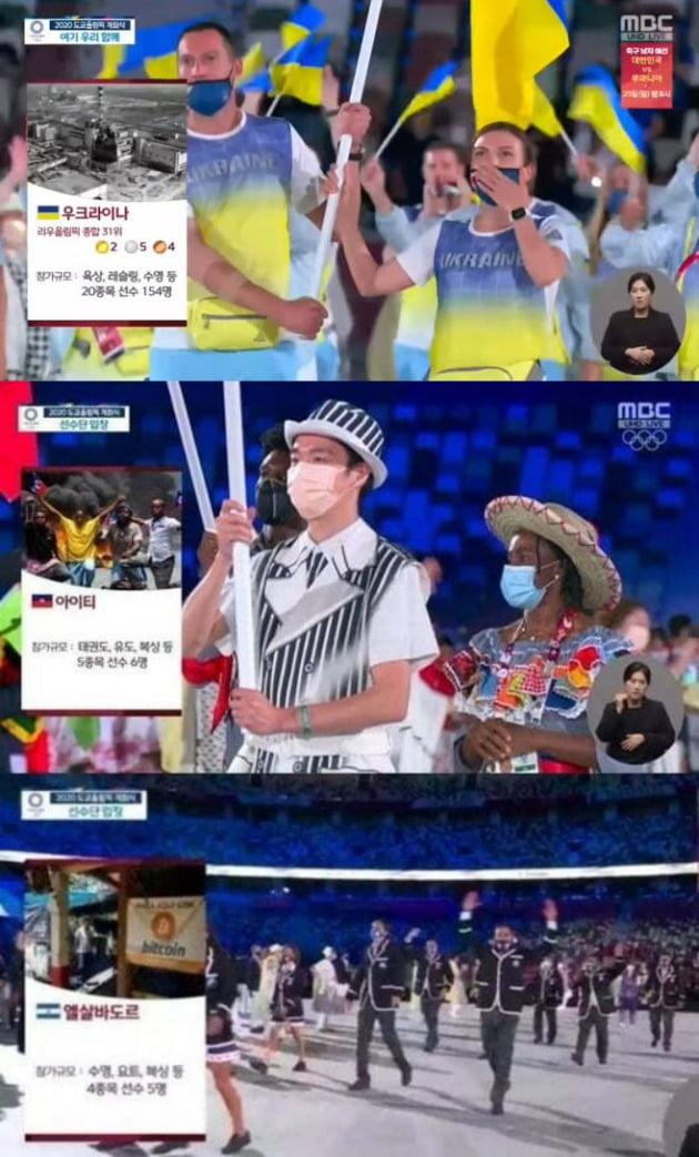 사진=MBC '도쿄 올림픽' 개막식 장면.