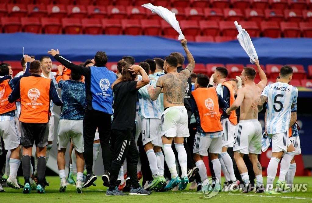 아르헨, 승부차기서 콜롬비아 제압…브라질과 코파 결승서 격돌