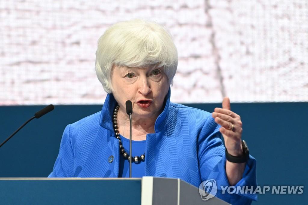 """옐런 """"코로나19 변이, 글로벌 경제회복 위협"""""""