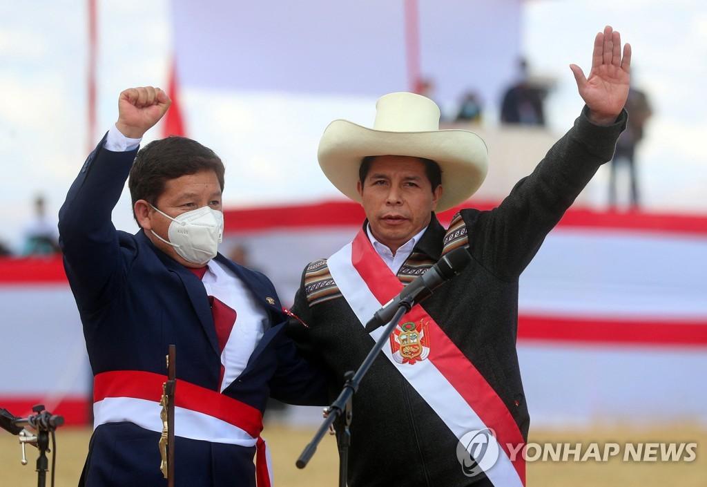 좌파 색채 짙어진 페루 새 정부…불확실성 커져 금융시장 휘청(종합)