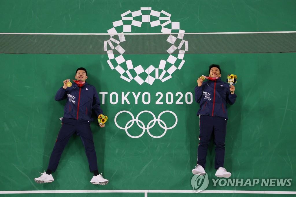 -올림픽- 대만, 첫 배드민턴 금메달…남자복식 리양-왕지린