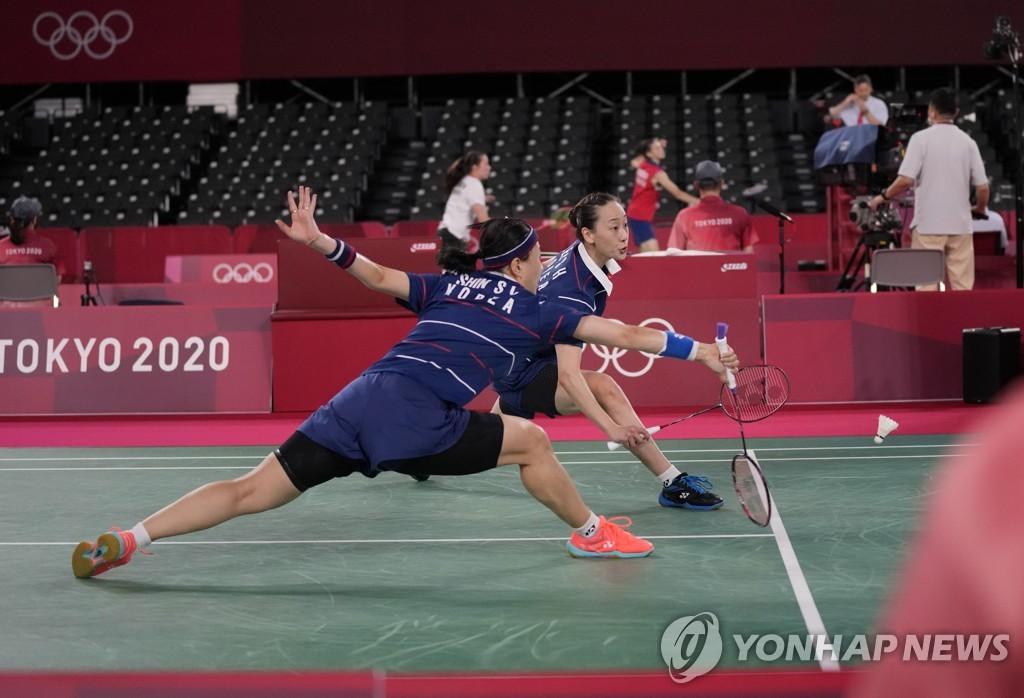 -올림픽- 배드민턴 여자복식 이소희-신승찬, 가뿐히 '첫 승'